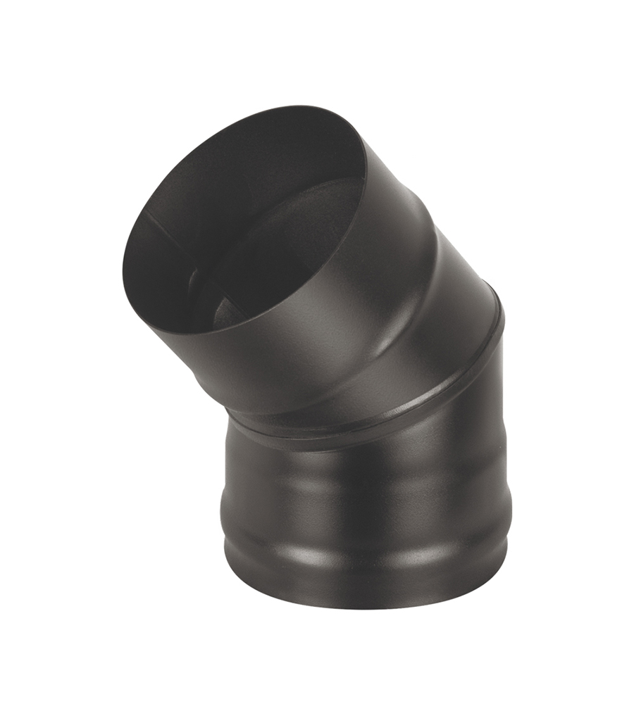 Колено BLACK (AISI 430/0,5мм) 45* 2-х секц. д.115