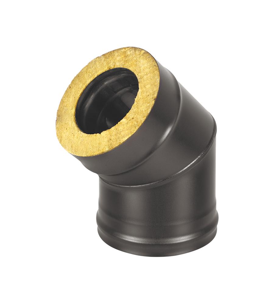 Сэндвич-колено BLACK (AISI 430/0,5мм + Оц.) 45* 2 секции д.115х200