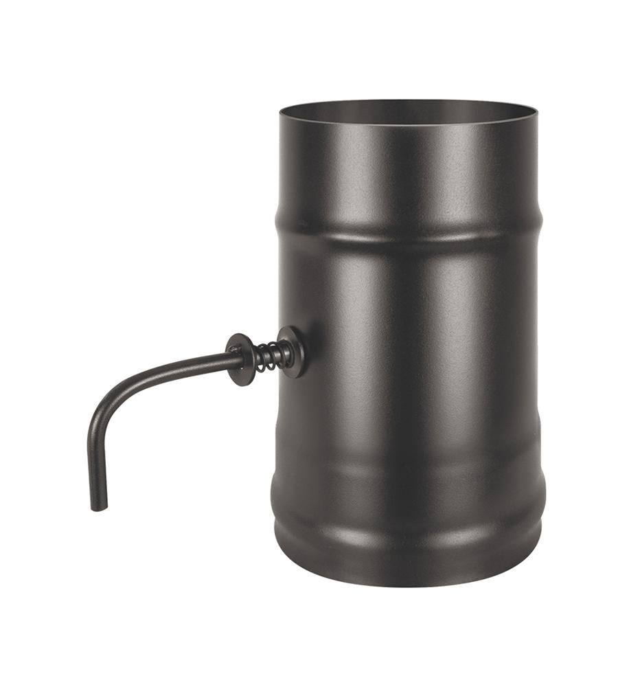 Шибер нерж. поворотный BLACK (AISI 430/0,8мм) д.115