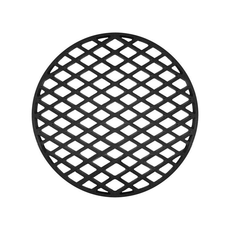 """Решетка чугунная круглая """"СТЕЙК"""" Ø 450мм"""