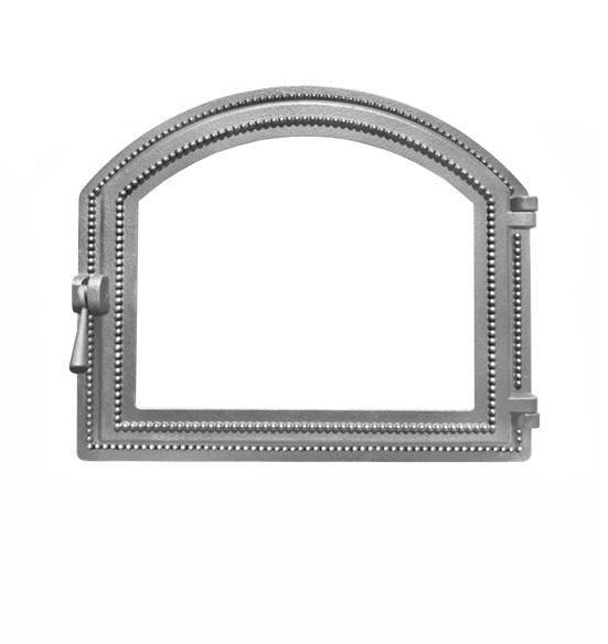 Дверка ВЕЗУВИЙ каминная 217 (не крашенная, без стекла)
