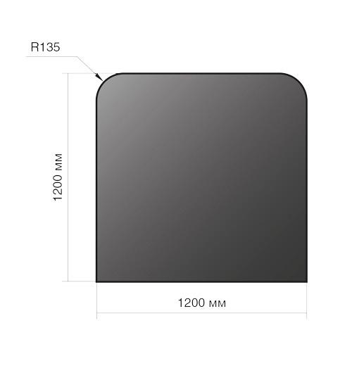 Лист напольный Везувий, 2мм, черный 1200*1200*2 R135