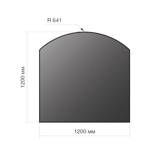 Лист напольный Везувий, 2мм, черный 1200*1200*2 R641