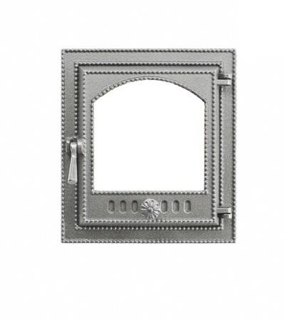 Дверка ВЕЗУВИЙ каминная 210 (не крашенная, без стекла)