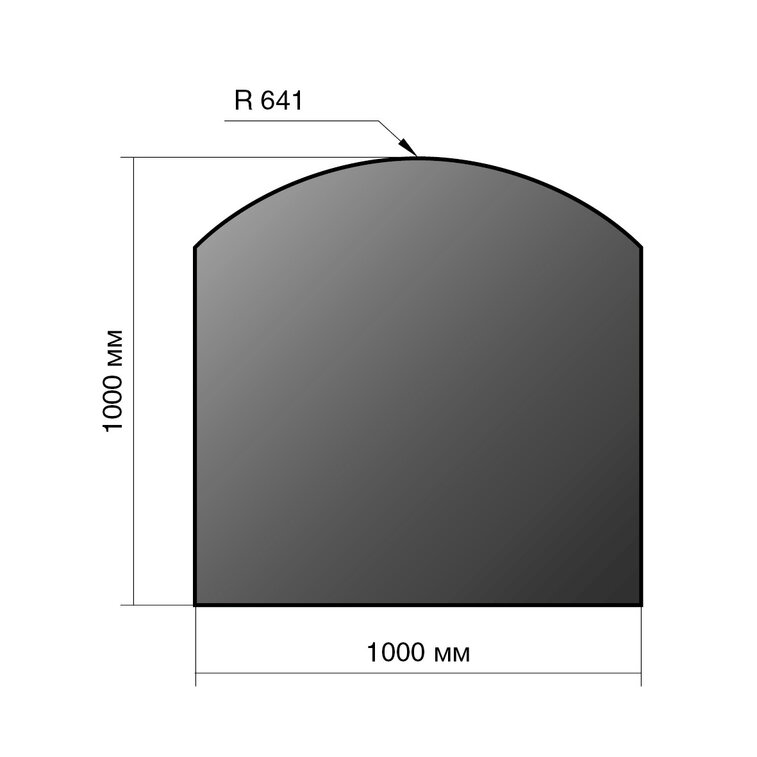 Лист напольный Везувий, 2мм, черный 1000*1000*2 R641