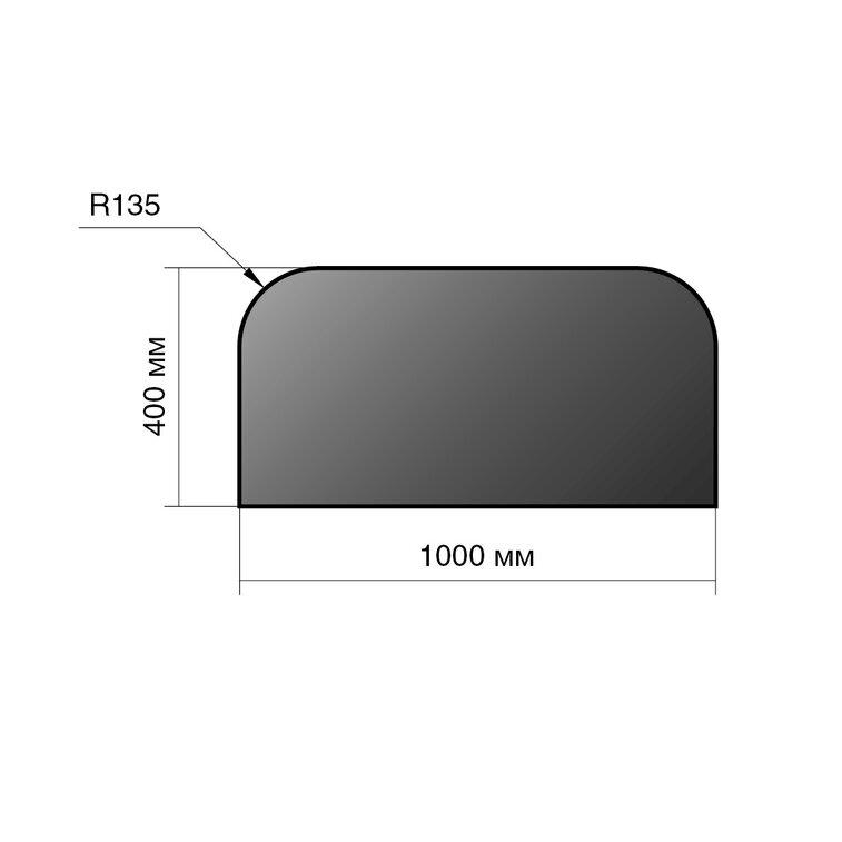 Лист предтопочный Везувий, 2мм, черный 400*1000*2 R135