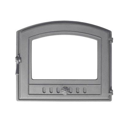 Дверка ВЕЗУВИЙ каминная 224 (не крашенная, без стекла)