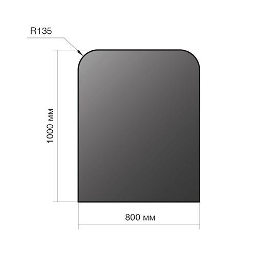 Лист напольный Везувий, 2мм, черный 1000*800*2 R135