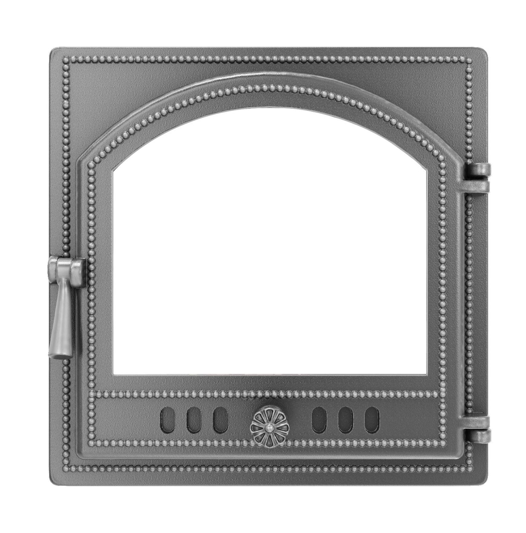 Дверка ВЕЗУВИЙ каминная 205 (не крашенная, без стекла)
