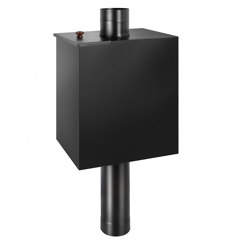 Бак BLACK на трубе 55л д.115 (Прямоуг) (AISI 439)