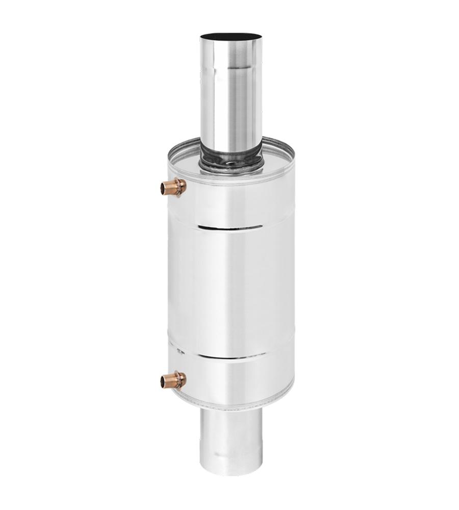 Теплообменник 12л на трубе д.120 (AISI 439)