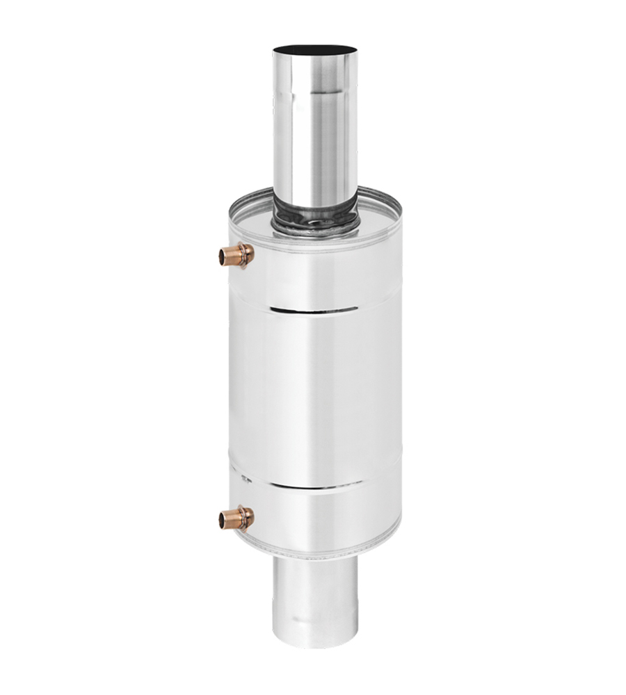 Теплообменник 12л на трубе д.115 штамп. (AISI 439)