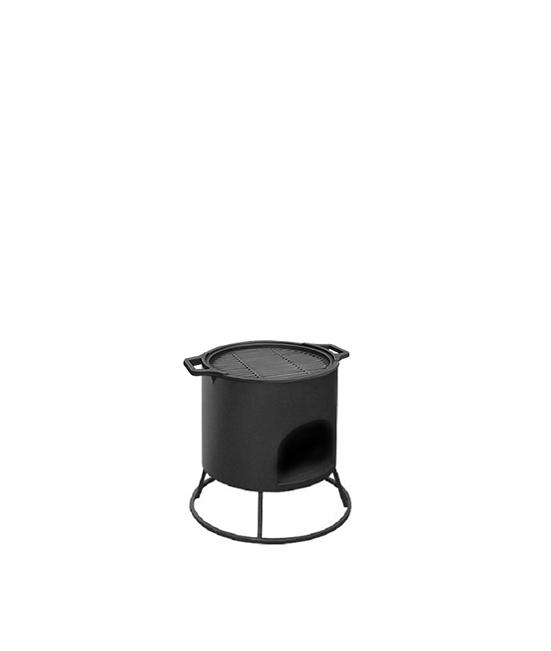 Решетка гриль чугунная Везувий, диаметр 380 мм.