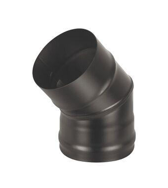 Колено BLACK (AISI 430/0,5мм) 45* 2-х секц.