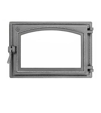 Дверка ВЕЗУВИЙ каминная 230 (не крашенная, без стекла)