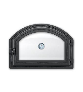 Дверка ВЕЗУВИЙ каминная 222 с термометром (Антрацит)